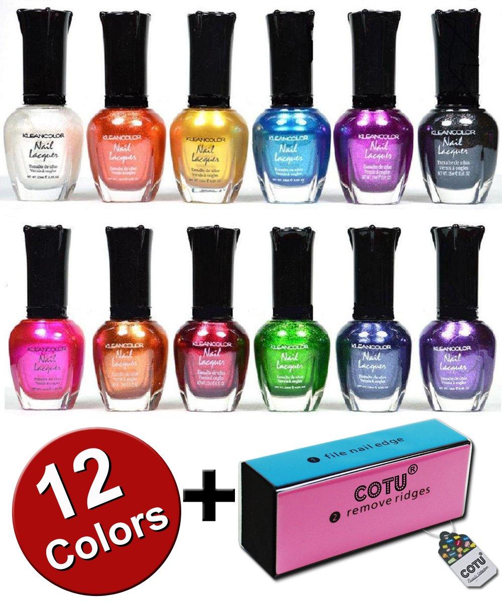Amazon.com : Kleancolor Retro Neon Set of 12 : Nail Polish