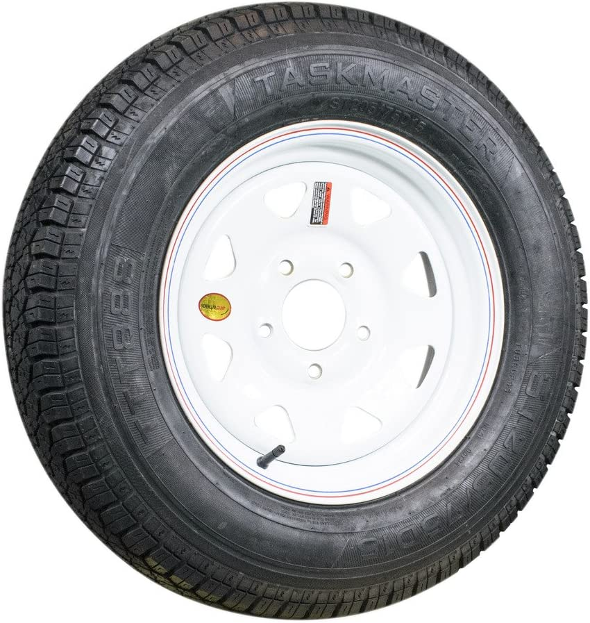 TTT888 Taskmaster 205/75D15, Load Range C, 6 PLY Bias Trailer Tire (Tire only)