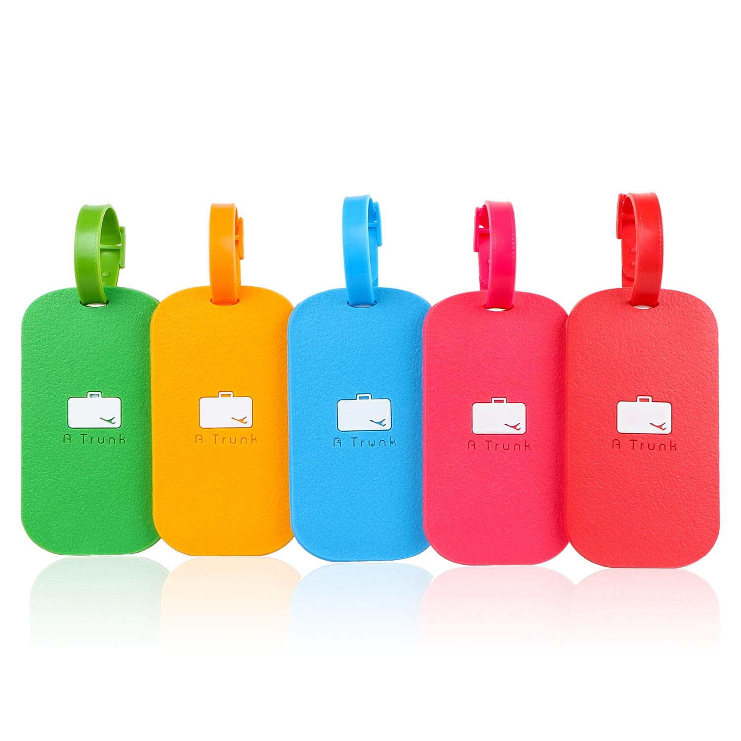 Luggage Tags-Travel Silicon Tag for Baggage Suitcase, Bag, Backpack, 5 Pack