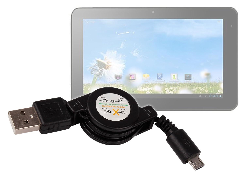 DURAGADGET Cable microUSB Retráctil para Tablet Sunstech ...