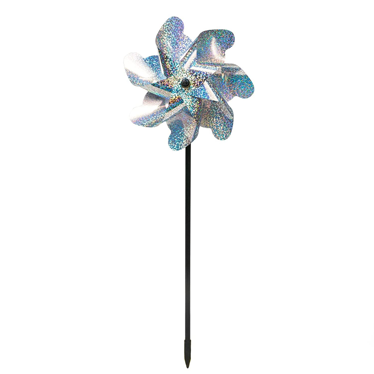 """Bird Blinder Repellent PinWheels /â/€/"""" Sparkly Holographic Pin Wheel Spinners Scare off Birds and Pests Set of 8"""