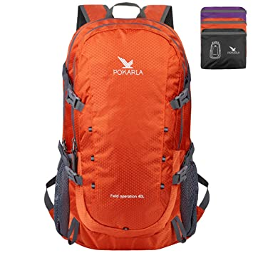 0d4210ba7000 POKARLA 22/35/40L Ultra Lightweight Packable Backpack Foldable Durable  Water Resistant Travel Hiking Camping Outdoor Daypack for Women Men