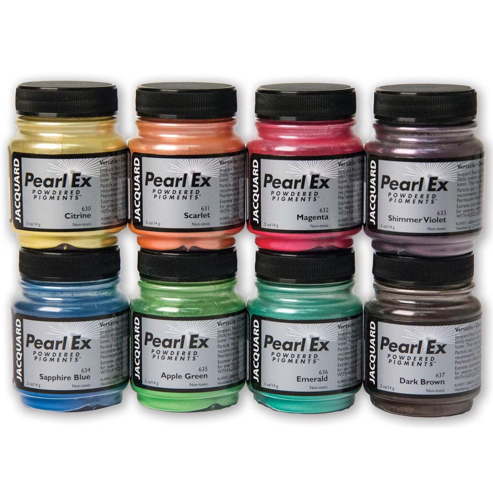 Pigmentos Jacquard Pearl Ex 8 x 14gr. Cromático