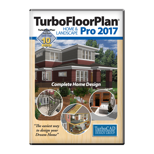 TurboFloorPlan Home & Landscape Pro 2017 [Download] (Easy Home Design Software)