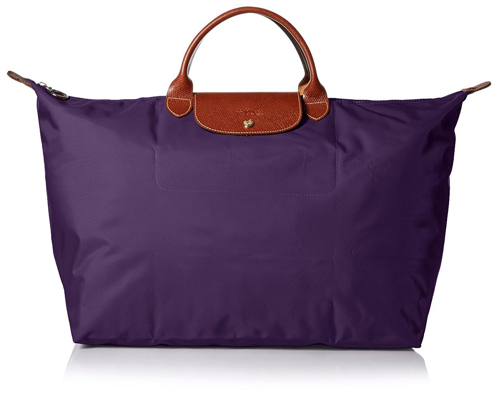 Longchamp Le Pliage Large Travel Bag, Bilberry, 17.75'' x 13.75'' x 9''