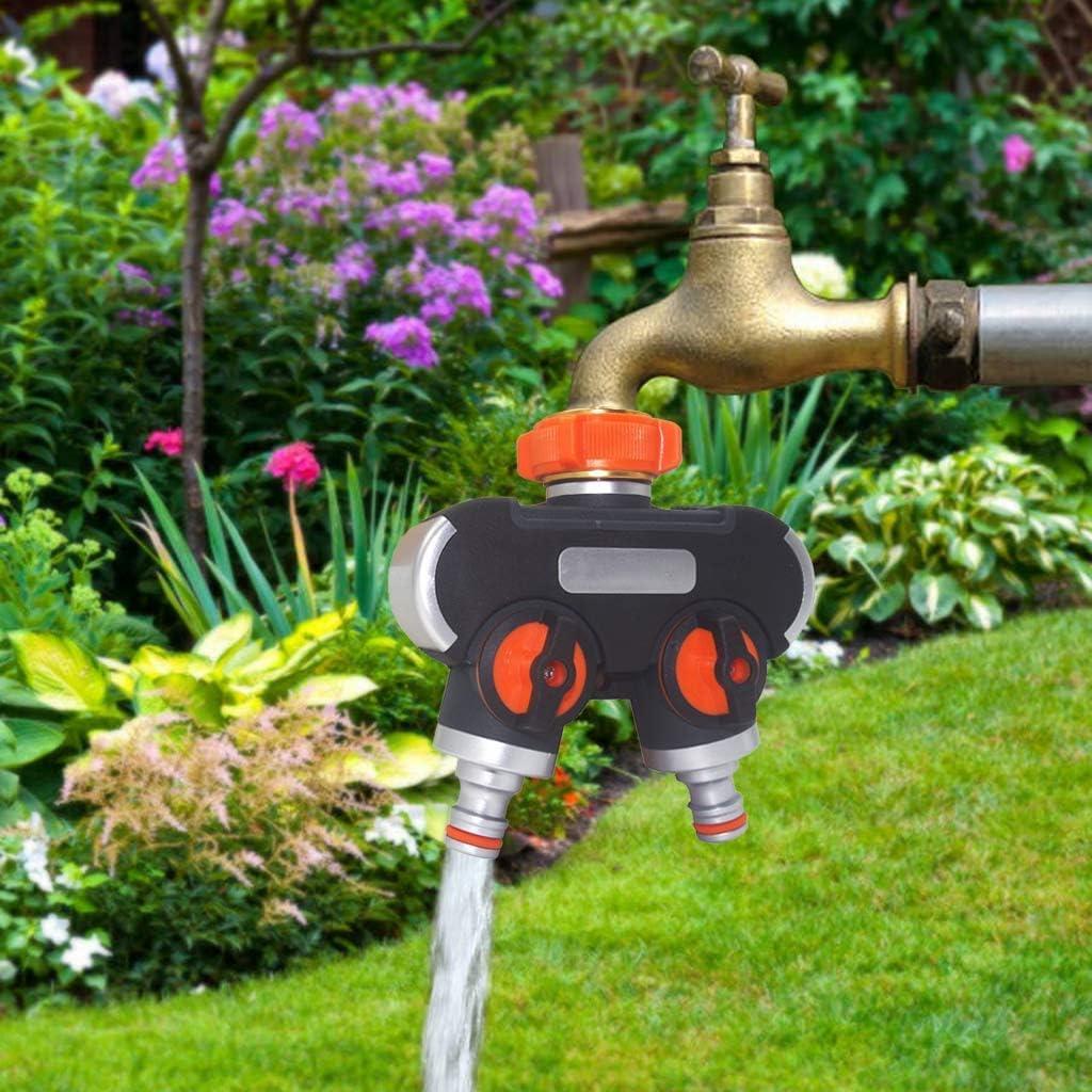 Divisor De Manguera De Agua De 2 Vías Separador De Agua Para Grifería De Jardín Conector De Manguera Exterior En Forma De Y Dispositivo De Riego De Jardines con 3 Arandelas 1