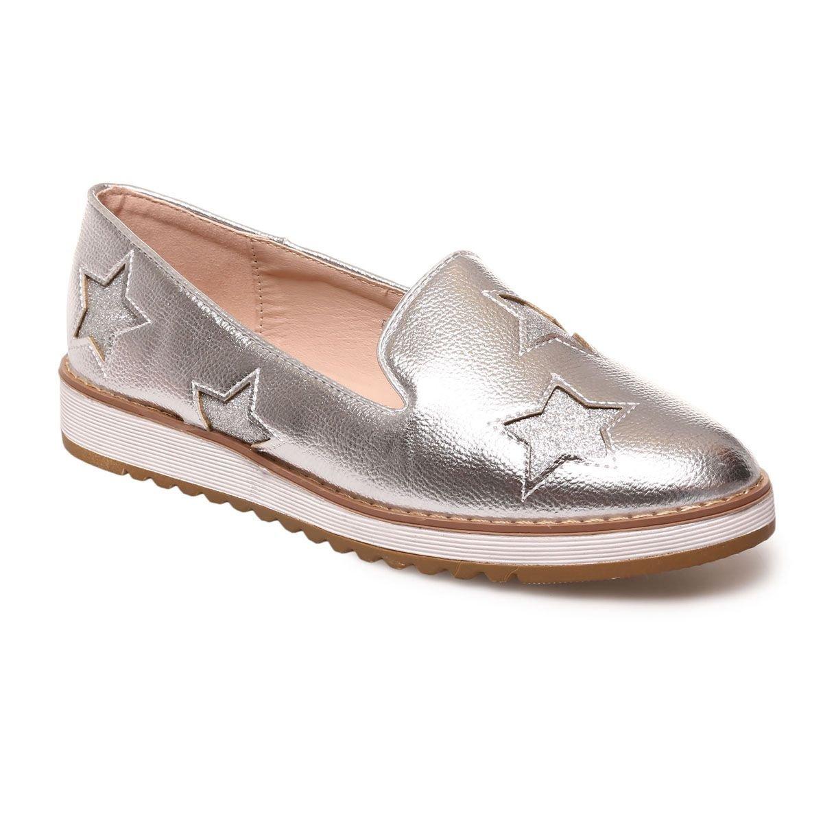 La Modeuse - Slippers détail étoiles étoiles sur pailletées Ton sur 19909 Ton Argenté 186a3a2 - therethere.space