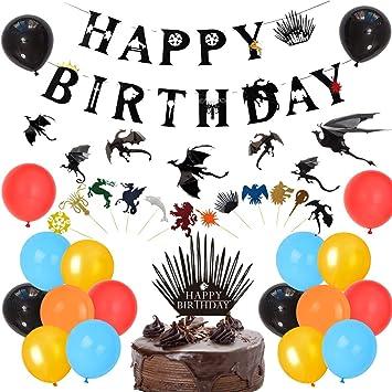 Game of Thrones Decoraciones para Fiestas Got Happy Birthday ...