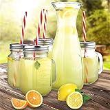 bulk buys Mason Jar & Carafe Beverage Set with Straws