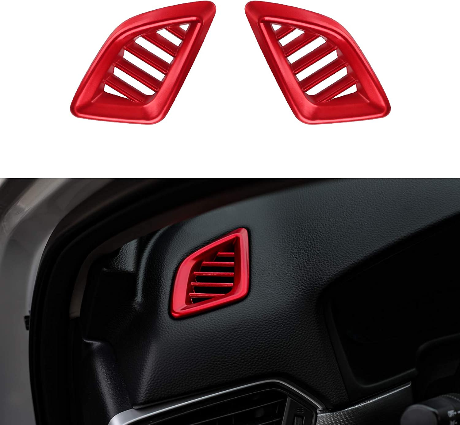 Thenice for 10th Gen Accord Dashboard Air Vent Decal Trims Wind Outlet Decoration Stickers for Honda Accord 2018 2019 2020 -Red