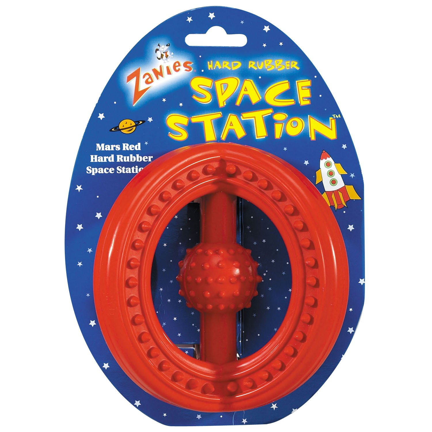 Zanies Hard Rubber Space Stations Dog Toys