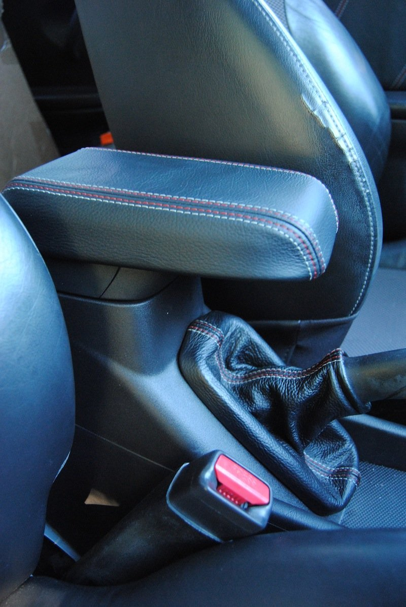 RedlineGoods ebrake Boot Compatible with Saturn ION 2003-07. Black Perforated Leather-Black Thread