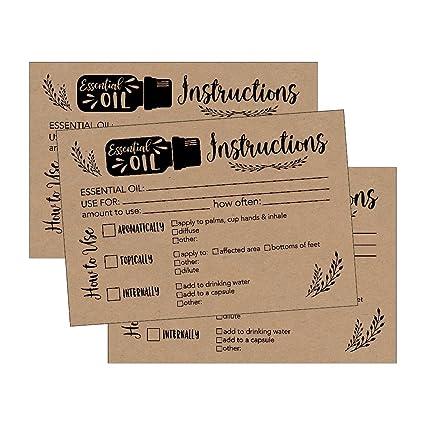 Amazon 25 4x6 Rustic Essential Oil Recipe Cards For Doterra