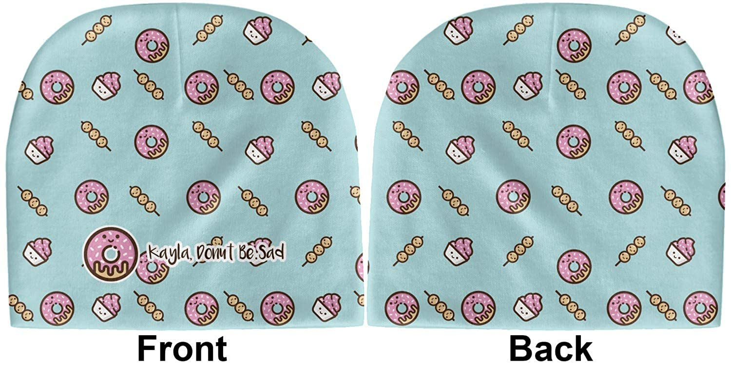 Blue Personalized Beanie YouCustomizeIt Donuts Baby Hat