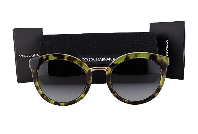 5828cbe1fb1 Image Unavailable. Image not available for. Colour  Dolce   Gabbana DG4268  Sunglasses Cube Havana Green w Gray Gradient Lens ...