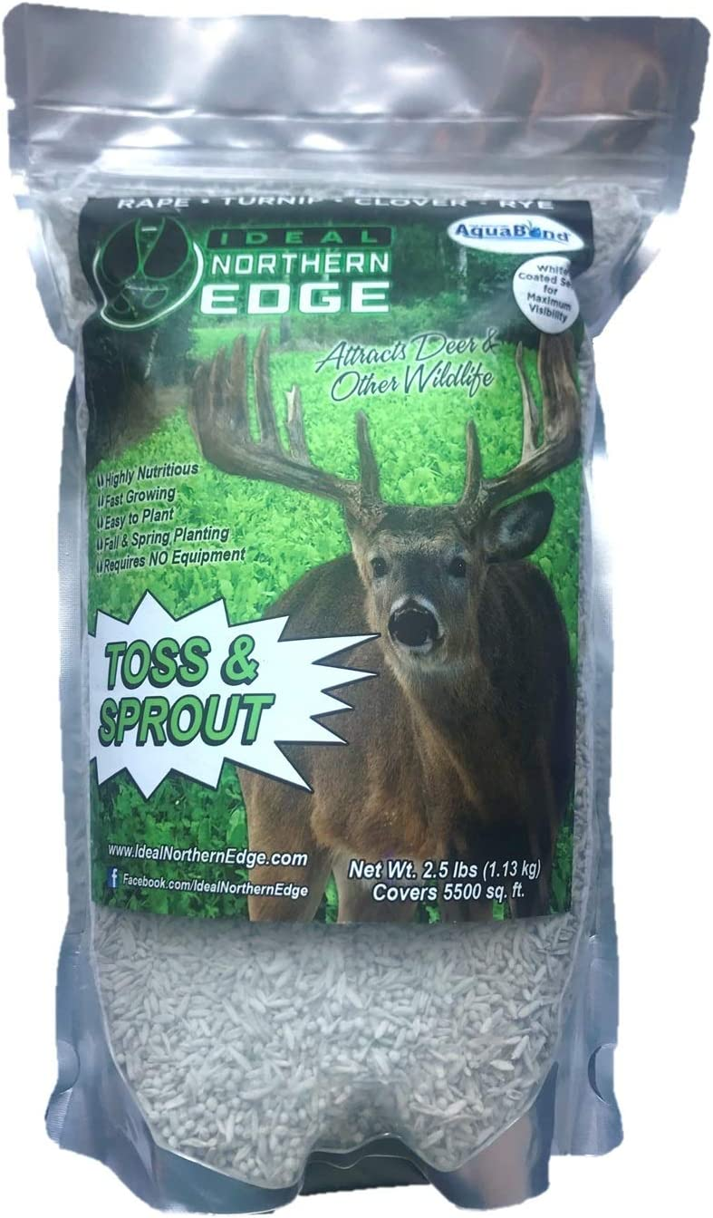 Ideal Northern Edge Toss and Sprout, 2.5 Pounds, White Coated Food Plot Seed