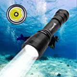 Diving Flashlight,CrazyFire Multiple Modes Scuba Diving Flashlight 1050lm Underwater 150m Professional Submarine Light with Battery and Charger