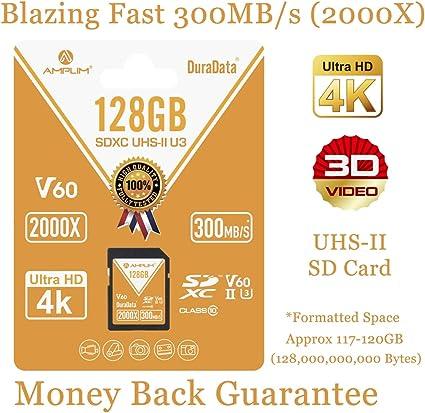 Amazon.com: Amplim UHS-II Tarjeta SD: Ultra Fast 285MB/s ...
