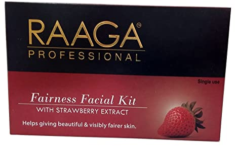 Raaga Professional 7 Step Fairness Facial Kit with Strawberry