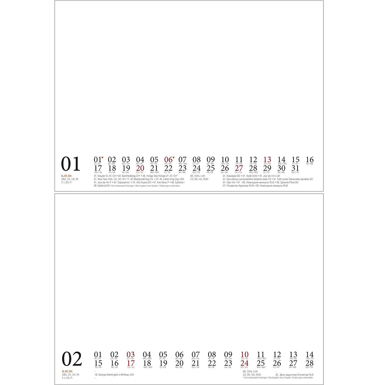 Bastelzauber Tischkalender Für Das Kalenderjahr 2019 Din A5 Weiß Geschenk Set 1 Gruß 1 Weihnachtskarte Selbstgestalten Bastelkalender