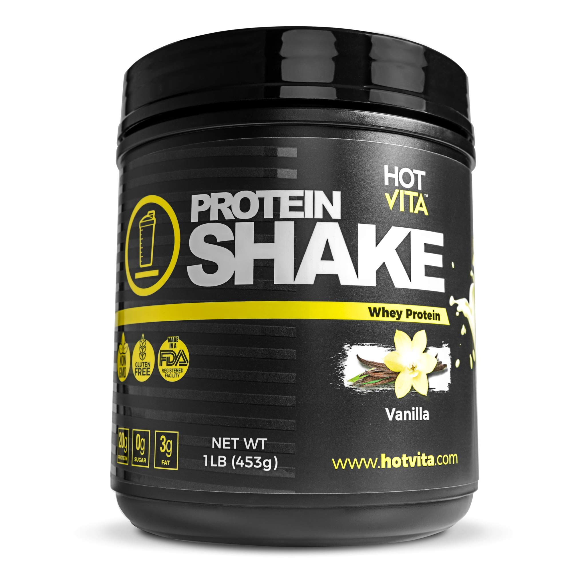 Hot Vita Meal Replacement Protein Shakes for Women - Gluten Free, Non-GMO, Meal Replacement Protein Powder for Weight Loss (Vanilla) by Hot Vita