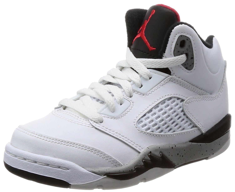 Nike Kids Jordan 5 Retro Basketball Shoe (2 M US Litlle Kids)
