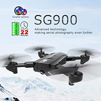 FairytaleMM SG900 Plegable Quadcopter 720P Drone FPV Optical Flow ...