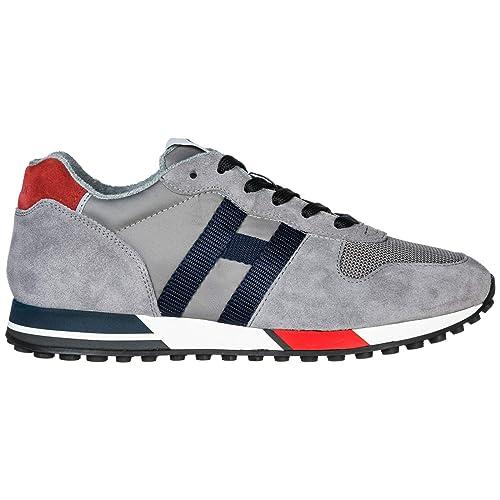 Hogan H383 Zapatillas Deportivas Hombre Grigio 44.5 EU: Amazon.es: Zapatos y complementos