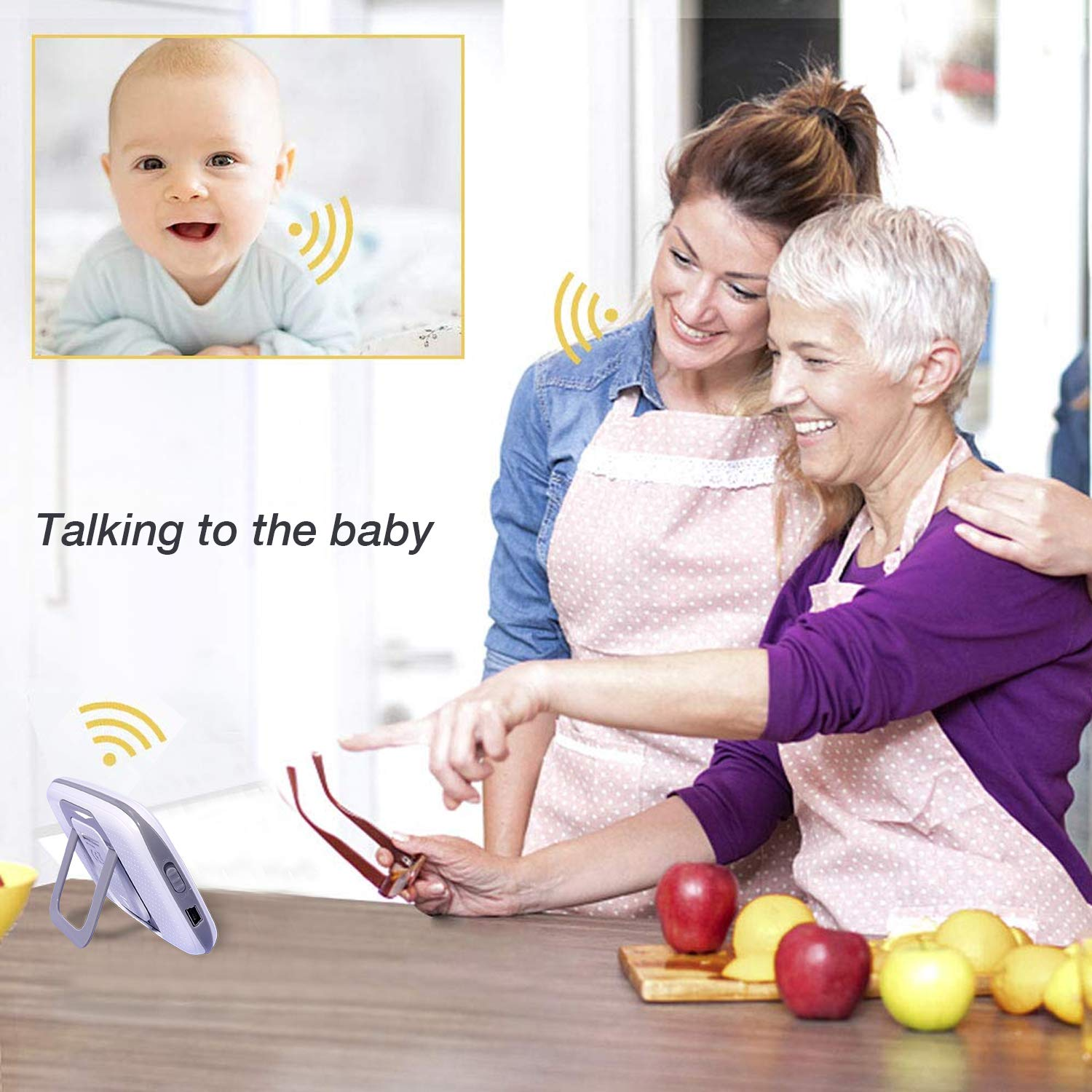 RCB Babyphone mit Kamera Video Baby Monitor Digitalkamera Wireless Monitor Baby Wiegenlied LCD Zwei-Wege-Gespr/äch VB601