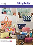 Simplicity Patterns US1153OS Accessory Bags, OS (ONE SIZE)