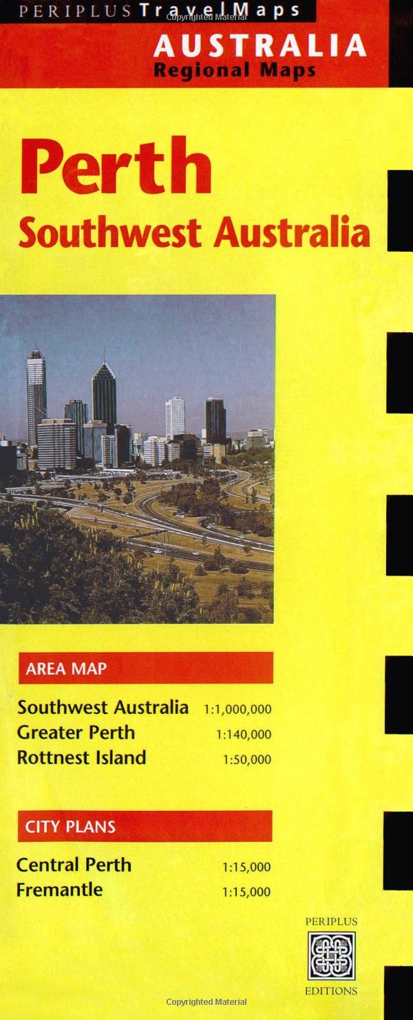 Southwest Australia Map.Perth Travel Map 1st Edtion Southwest Australia Australia Regional