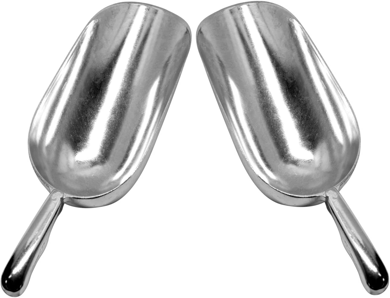 Set of 2 Large (24 Oz.) BonBon Aluminum Ice Scoop, Dry Goods Bar Scooper High Grade Commercial Scoop