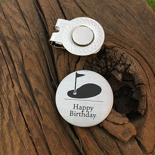 Happy Birthday Golf Ball Marker Father In Law Dad Husband Boyfriend Gift For Golfer