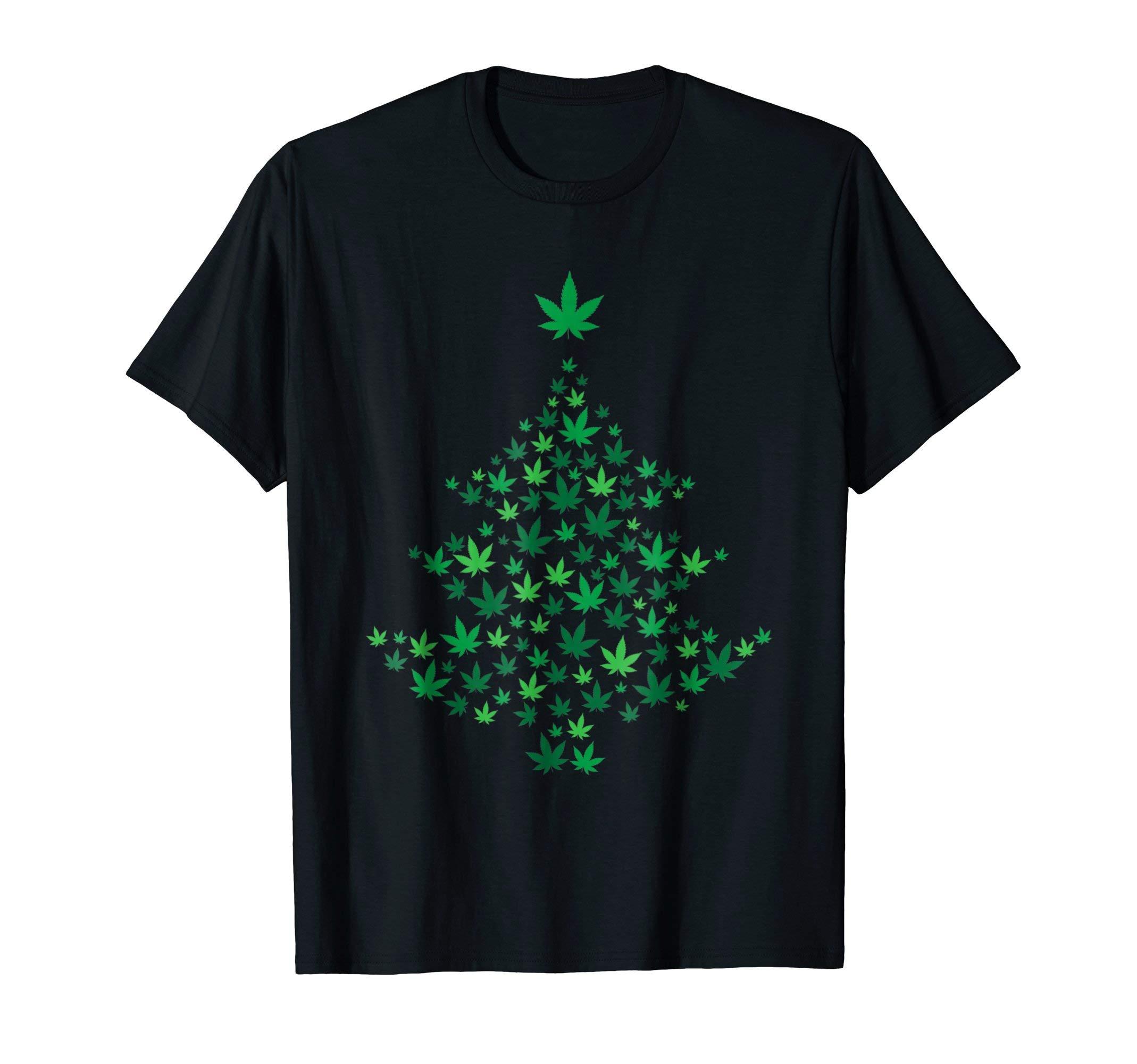 Weed Christmas Tree – Funny Marijuana Xmas Costume T-shirt