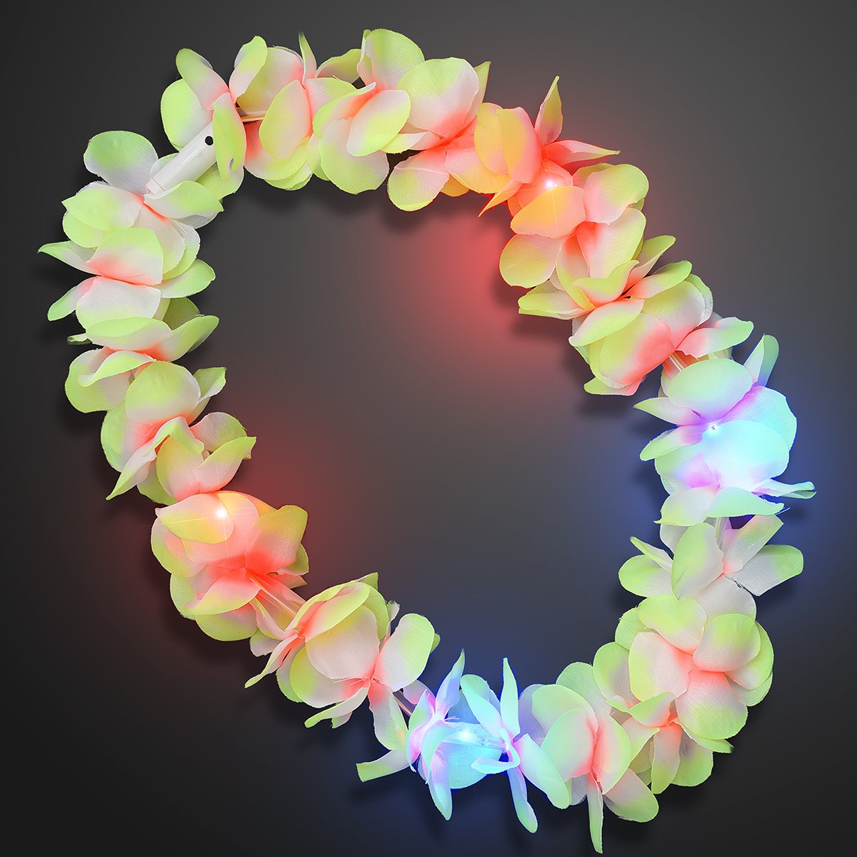 Large Assorted Light Up Hawaiian Leis with Flashing LED Lights (Set of 24) by FlashingBlinkyLights (Image #7)