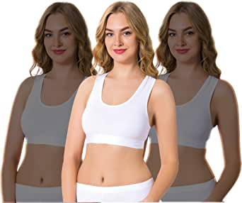 Arma 3 Pack Lightweight Cotton Sports Bras for Women (Pack of 3)