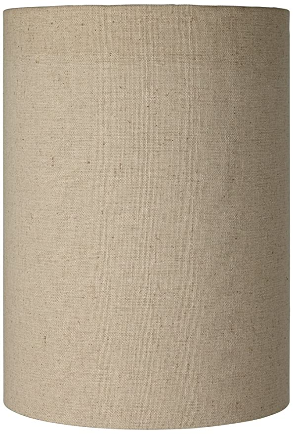 Cotton Blend Tan Cylinder Shade 8x8x11 (Spider) by Brentwood