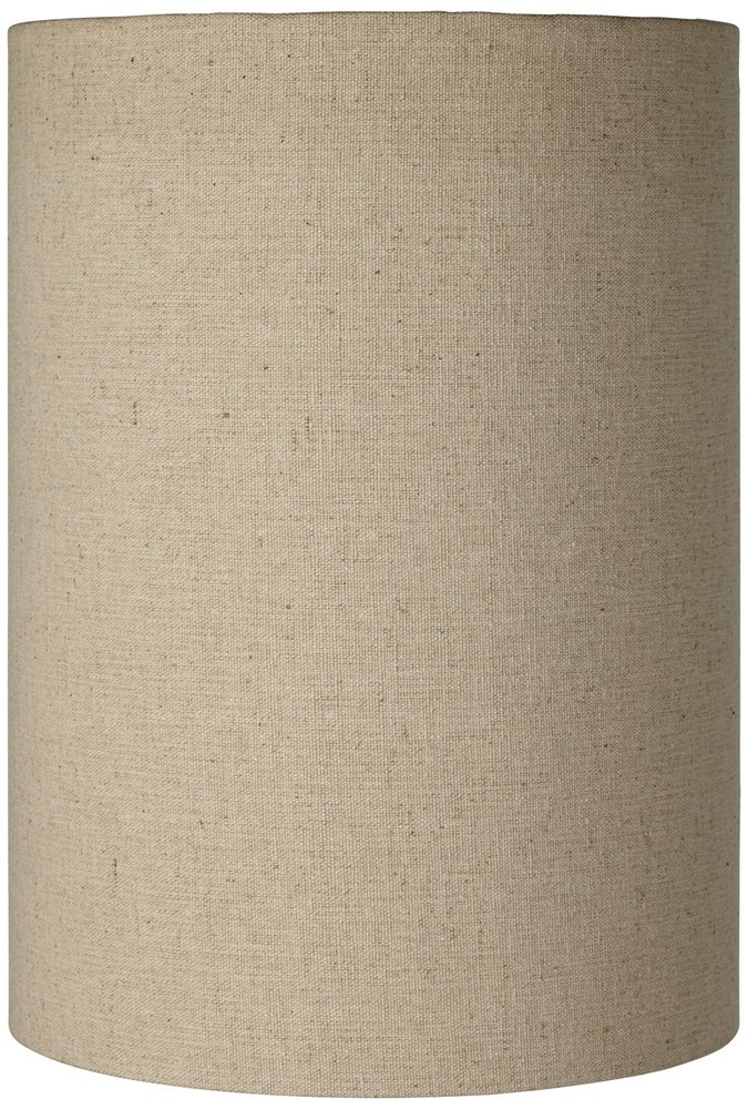 Cotton Blend Tan Cylinder Shade 8x8x11 (Spider)
