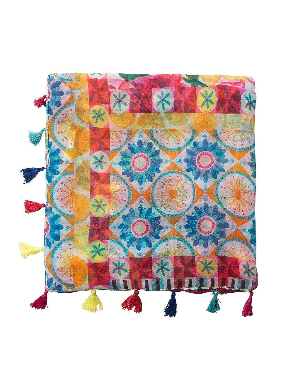 Fular Desigual Little Multicolor Desigual Foulard_Little Bufanda para Mujer Amarillo (Fresh Yellow 8023) 18SAWW608023U