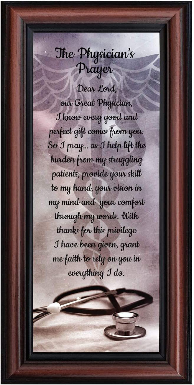 Doctor Gifts, Gifts for Medical School Graduation, Doctor Thank You Gift, Gifts for Doctors Office, Medical Doctor Gifts for Women or Doctor Gifts for Men, A Physician Prayer Framed Poem, 7434W