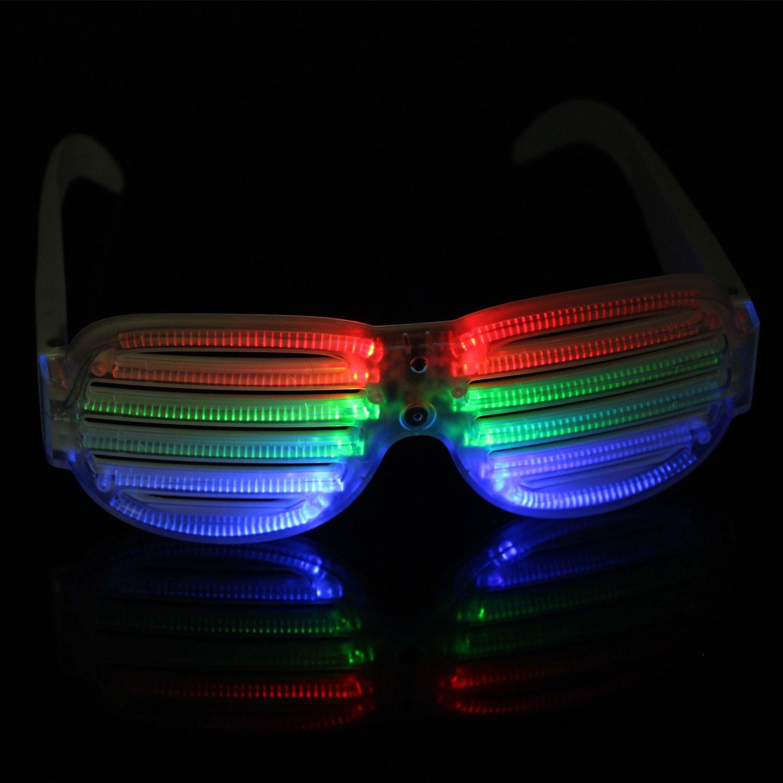 Xcellent Global Sound Betriebene LED Licht Brille Weißer Rahmen ...