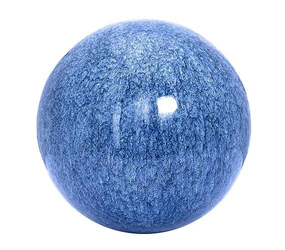 Diameter 20/cm Dehner Marble-Finish Stainless Steel Ball Blue