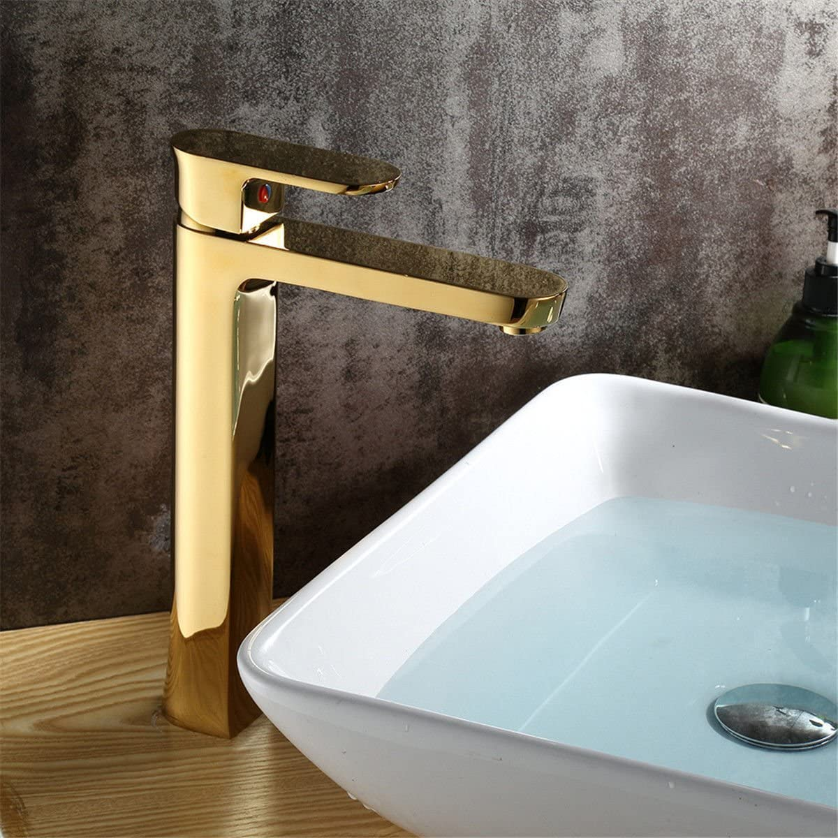 Kitchen Faucet Commercial Solid Brass Cold Gold Bathroom Kitchen Sink Basin Mixer Tap Bathroom Sink Vessel Bathroom Faucet Bathroom Faucet Sink Basin Mixer Tap Hot and Cold