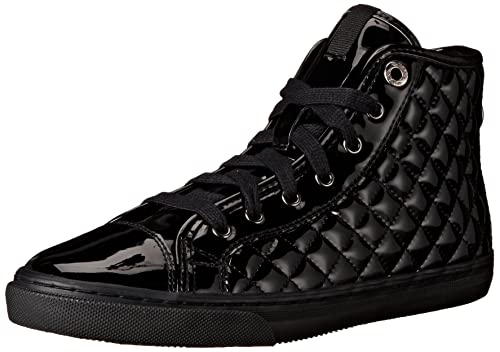 Geox D New Club D Sneaker con Cerniera Donna Black 41 EU
