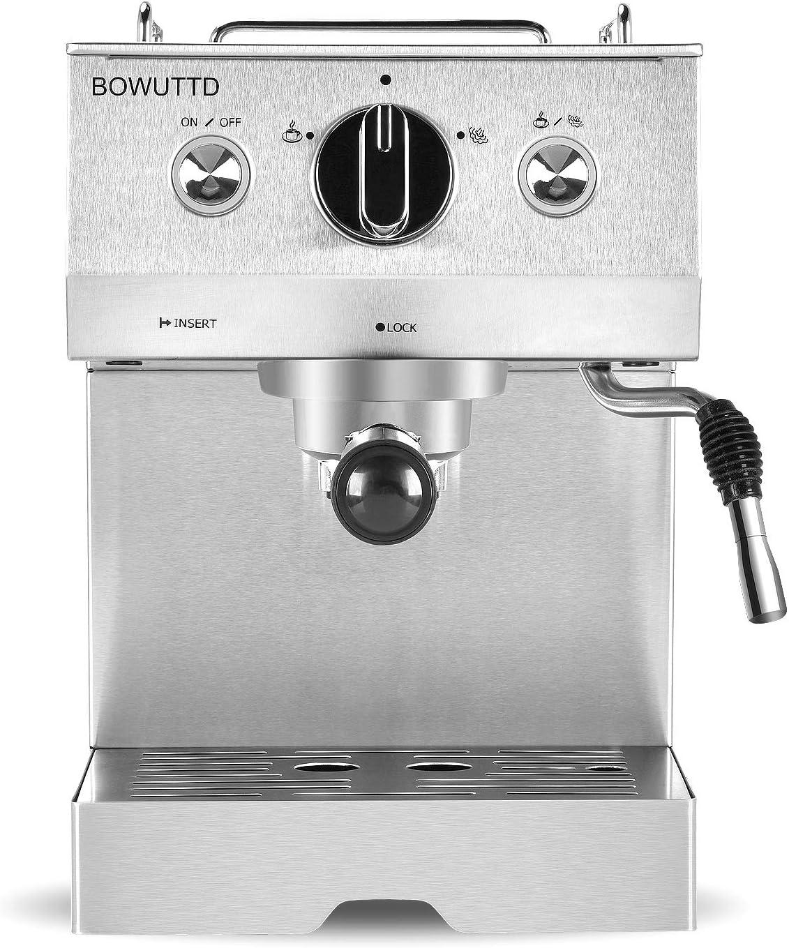 Amazon.com: Bowuttd Máquina de café expreso, 1,25 l, máquina ...