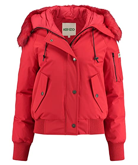 c8f9bc14 Kenzo Women's Puffa Red Down Jacket with Hood. L(INT) Red ...