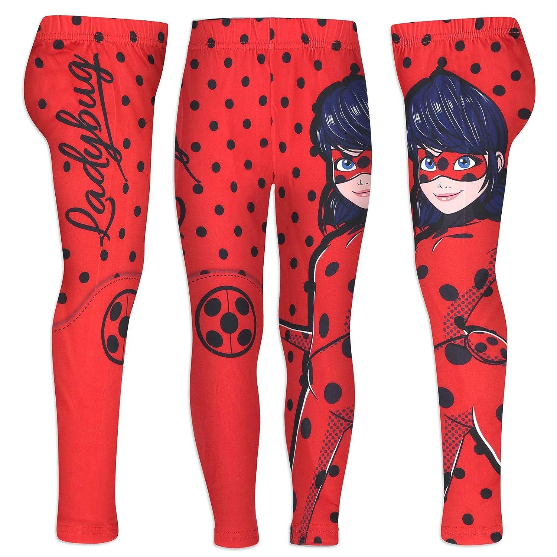 Leggings in Poliestere Full Print Bambina Miraculous LadyBug e Cat Noir