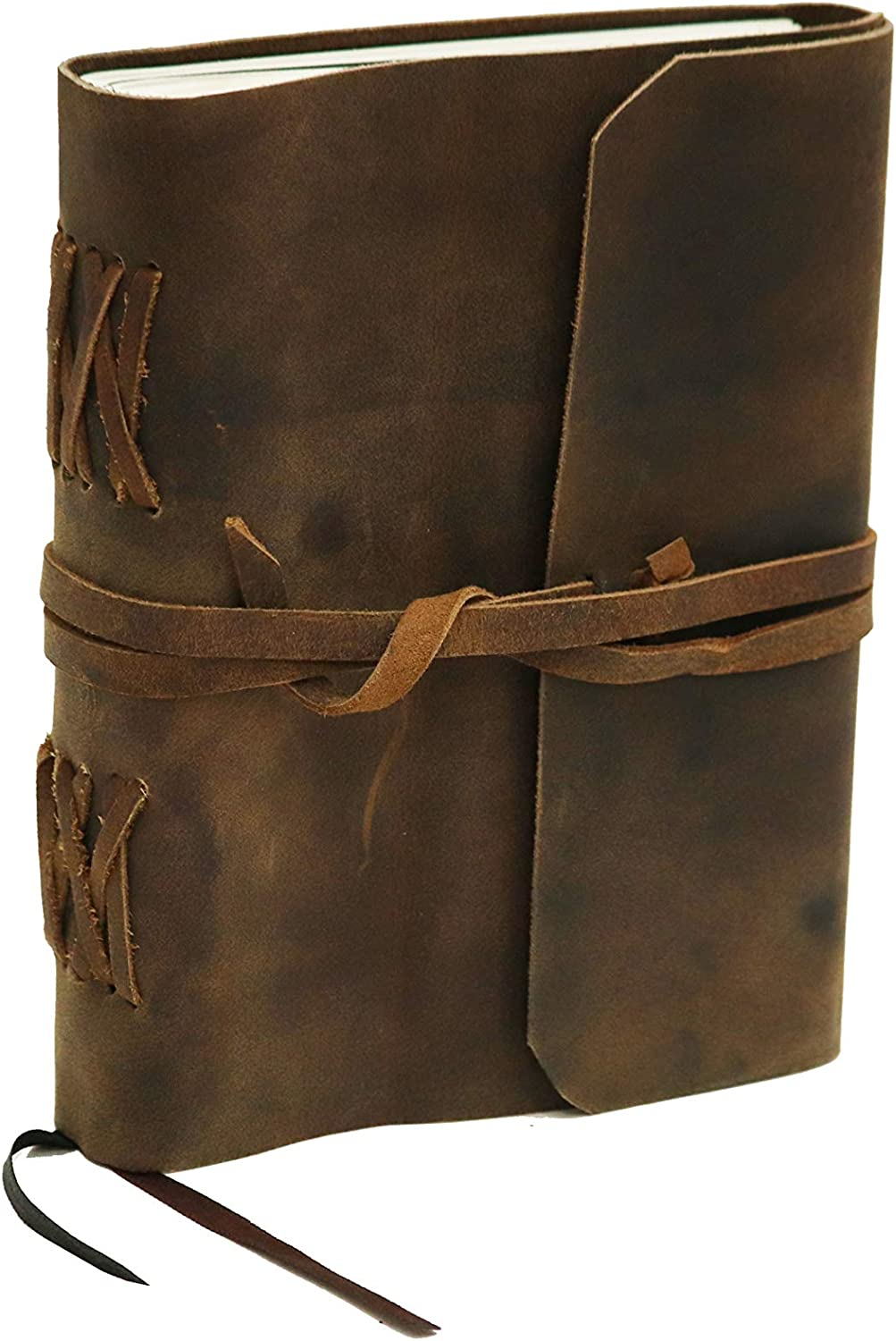 Leather Journal Lined Book For Men & Women, Leather Bound Notebook, Travel Journal, Writing Memories Journal Diary