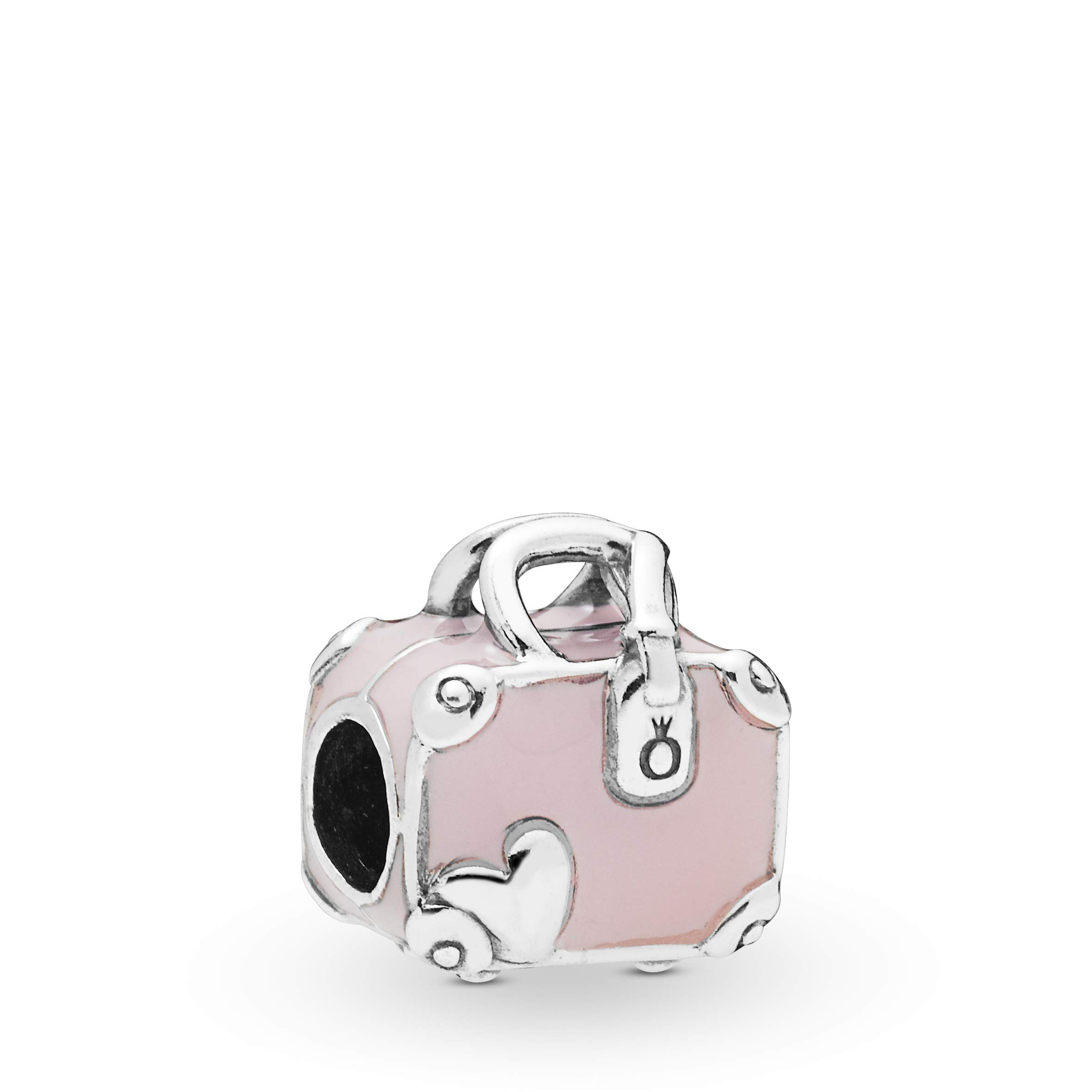 PANDORA Pink Travel Bag Vacation Trip Suitcase 925 Sterling Silver Charm - 798063EN124