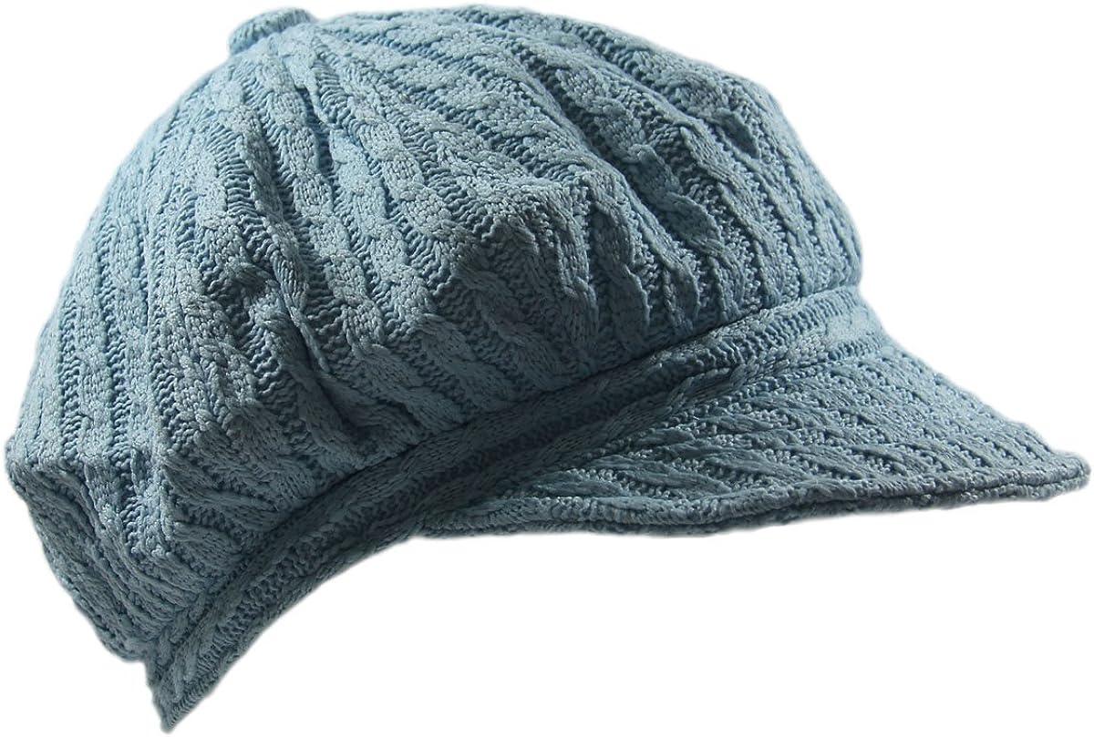 NY Knit Cable Newsboy Hat